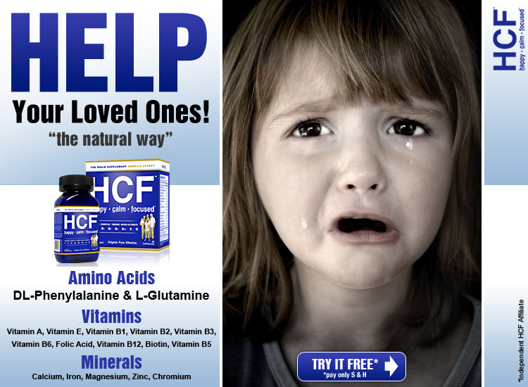 HCF Happy, Calm & Focused - The Brain Supplement America Loves